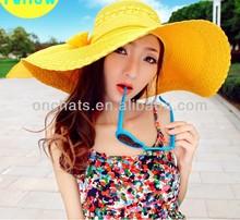 ladies wide brim straw summer hat sun beach hat