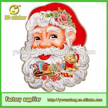 2016 New 3D Glitter Paper Christmas Santa Face ,Best quality popular paper santa claus decoration