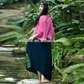 2014 de verão venda quente do estilo vintage bordado 100% algodão saias longas para mulheres