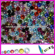 2014 Highest quality DMC flat back hotfix rhinestones iron on strass crystal beads