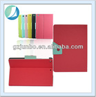 Button Stand Flip Case for iPad 4 with 2 Folding Design
