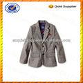 Custom 100% algodão crianças jaqueta blazer/crianças menino esportes casaco grosso