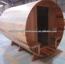 Canada cedar wood 4-6 person outdoor sauna barrel