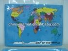 World Map Jigsaw Puzzle Mat