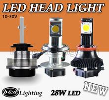 56W cree chips 5000 lumen car led headlight, replace halogen bulb