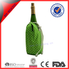 Wave point nylon individual wine bottle cooler with draw string