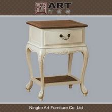 Antique living room furniture european design wooden bed stand
