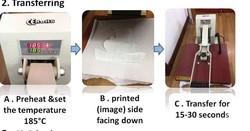 Muti colour leopard print sublimation transfer paper for women's fashion garment