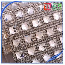 best quality bling bling rhinestone covered fabric mesh