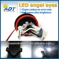 E92 H8 12w V-shape led marker angel eyes H8 led light 12v E-mark E4 no error for BMW Coupe Limo Touring Convertible