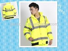 Security reflective jacket waterproof jacket high visibility jacket