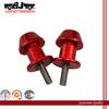 BJ-Screws-3001 High Quality 6mm Motorcycle aluminum red swingarm spools slider stands screws racing part