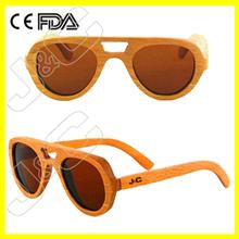 High quality promotional wood eyewear and wayfarer bamboo silhouette sunglasses