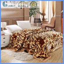 polar coral fleece wool raschel blanket