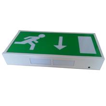legend arrow down led rechargeable exit sign for building