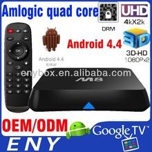 2014 Newest Amlogic S802 Quad core A9 2.0GHZ Mali 450 Octa-core Android 4.4 Kikat EM8 TV Smart Box