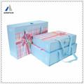 montaña de papel de alta calidad caja del cajón con la tela para la joyería