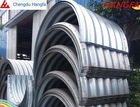 large diameter semicircle galvanized steel culvert tube