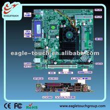 dual display intel atom D525 Dual core 1.8Ghz ddr3 fanless itx mini board