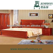 K-hb863 moderna de madera maciza muebles de dormitorio king size cama de madera maciza