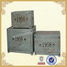 Rustic Style Shabby Chic Wooden Storage Box S/3(YF691)