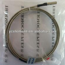 pt100 rtd sensor with 2 PIN plug cable 1.5m 5mm*25mm