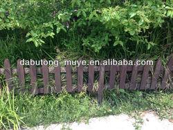 wooden dog fence