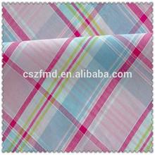Fashionable and high quality 100% cotton yarn dyed big check fabric