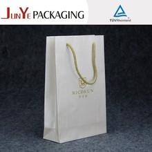 popular newest paper gift wholesale white die cut handle kraft paper bag