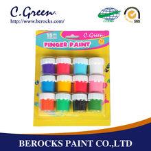 acrylic environmental friendly 15ML in round bottle finger paints