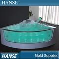 Hs-b309 aqua masaje de vidrio bañera de hidromasaje con luz led