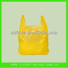 big size strong biodegradable custom made plastic shirt bag supermarket vest carrier bag for shopping/packing with logo