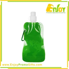 Advertising Top Quality Logo Printed Plastic Foldable Bottle