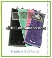 100% Cotton embroidery custom golf towel wholesale