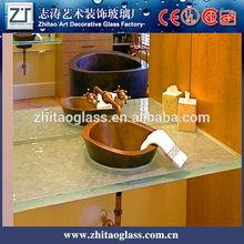 Modern 30 mm de vidro do banheiro contador top