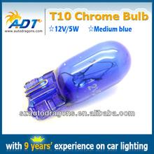Hiway auto parts T10 chrome bulbs Middle blue car accessories