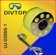 Deep sea multiplier reel with 150 feet nylon line reel