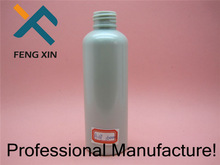 Hot stamping screen printing boston round 8 oz PET plastic cosmetic bottle with sprayer pump