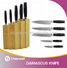 Japanese Damascus knives set