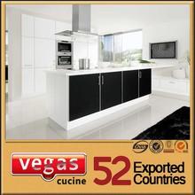 High gloss with island modern kitchen cabinets