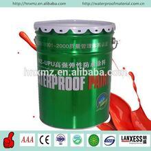 Liquid double component polyurethane waterproofing asphalt color coating