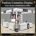 High end shopping cosméticos exibição quiosque mobiliário de design com vidro balcão de maquiagem