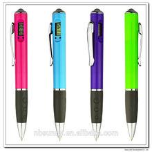 Best plastic cheap ballpoint pen with clock