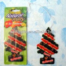 Wholesale custom Christmas tree shape paper car air freshener
