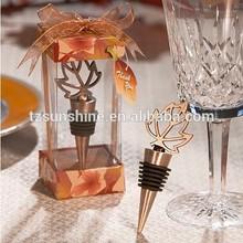 Autumn Leaf Design Bottle Stopper wedding party favors