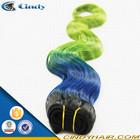 Hot sale !!! 8-36inch cheap fashion loose wave black blue green brazilian blue ombre hair weaves