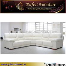 Top hot white leather sofa design catalogue PFS5511