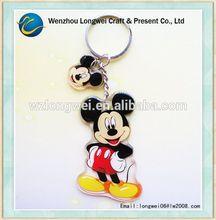 Mickey mouse em forma de plástico keychain / fabricantes keychain