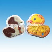 gran pato forma de galleta de chocolate
