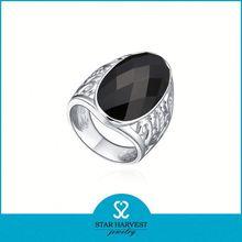 Fashion silver stone ring designs for men